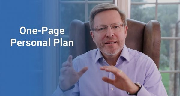 One page Personal Plan